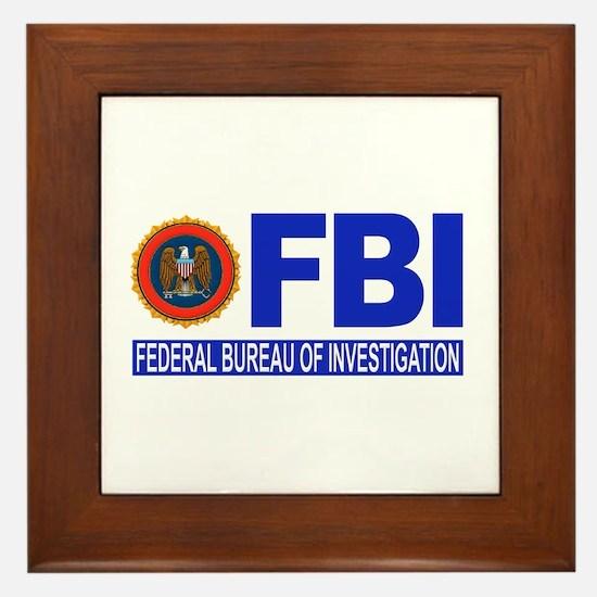 FBI Federal Bureau of Investigation Framed Tile