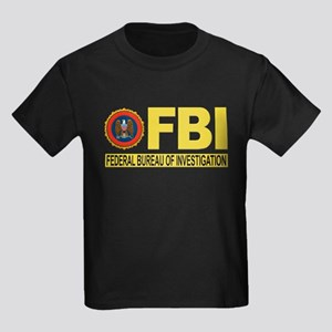 FBI Federal Bureau of Investigation Kids Dark T-Sh