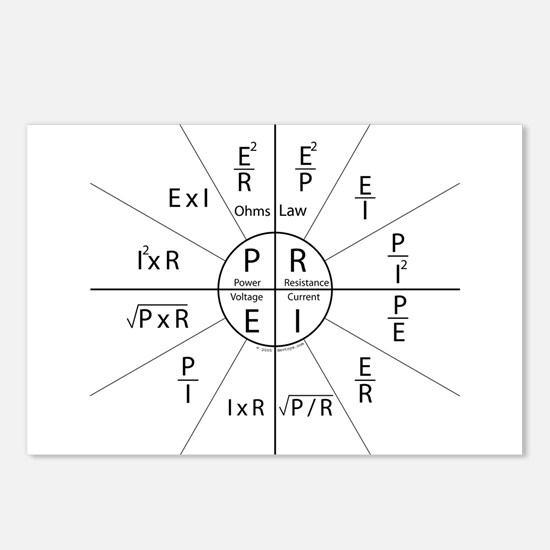 Ohms law Postcards (Package of 8)