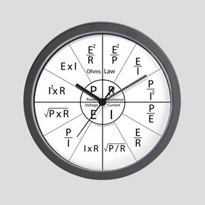 Ohms law Wall Clock