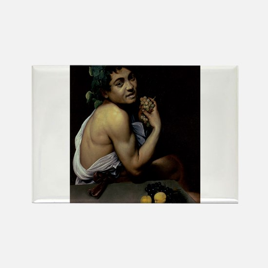 The Sick Bacchus by Michelangelo Caravaggio Magnet