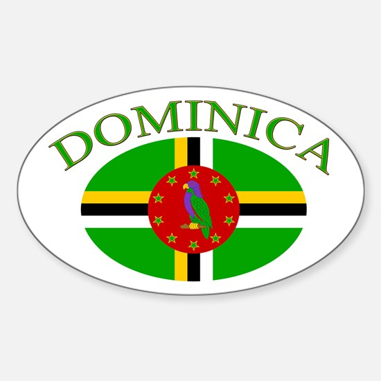 Dominica Oval Decal