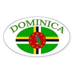 Dominica Oval Sticker