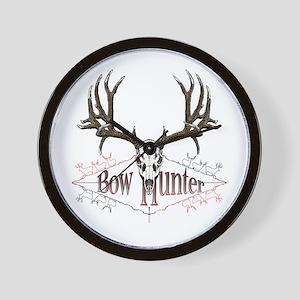 Bow hunter,deer skull Wall Clock