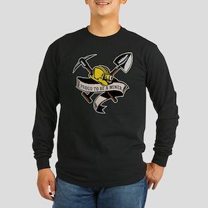 coal miner mining Long Sleeve Dark T-Shirt