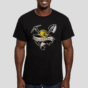 coal miner mining Men's Fitted T-Shirt (dark)
