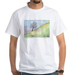 California Tree Watercolor White T-Shirt