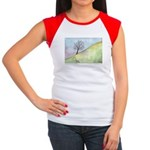 California Tree Watercolor Women's Cap Sleeve T-Sh