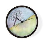 California Tree Watercolor Wall Clock
