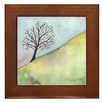 California Tree Watercolor Framed Tile
