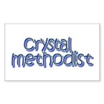 Crystal Methodist Rectangle Sticker