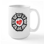 Red Heart Dharma Large Mug