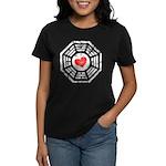 Red Heart Dharma Women's Dark T-Shirt