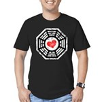 Red Heart Dharma Men's Fitted T-Shirt (dark)