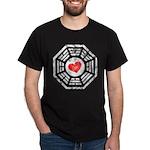 Red Heart Dharma Dark T-Shirt
