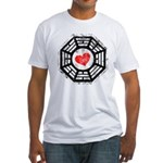 Red Heart Dharma Fitted T-Shirt