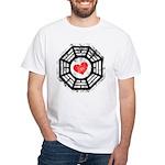 Red Heart Dharma White T-Shirt