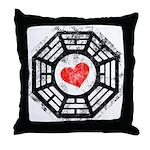Red Heart Dharma Throw Pillow