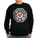 Red Heart Dharma Sweatshirt (dark)