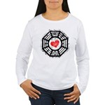 Red Heart Dharma Women's Long Sleeve T-Shirt