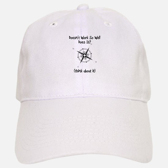 Super Awesome Broke Compass Baseball Baseball Cap