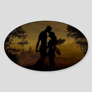 Forbidden Love Sticker (Oval)