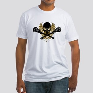 Lacrosse and Bones Fitted T-Shirt