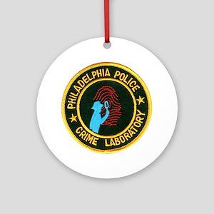 Philadelphia Police Crime Lab Ornament (Round)