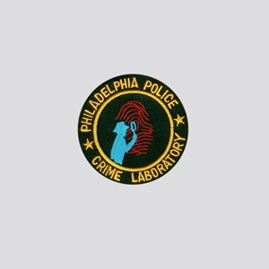 Philadelphia Police Crime Lab Mini Button (100 pac