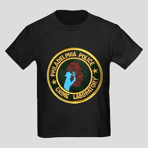 Philadelphia Police Crime Lab Kids Dark T-Shirt
