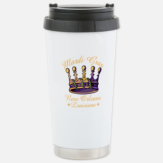 Fat Tuesdays Stainless Steel Travel Mug