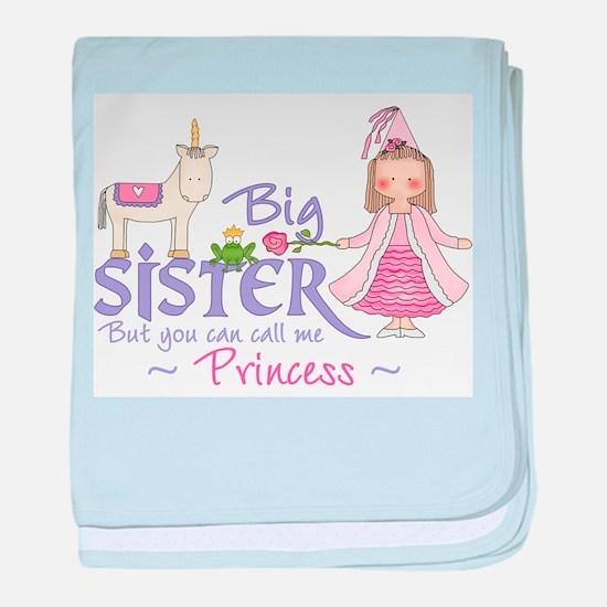 Unicorn Princess Big Sister baby blanket