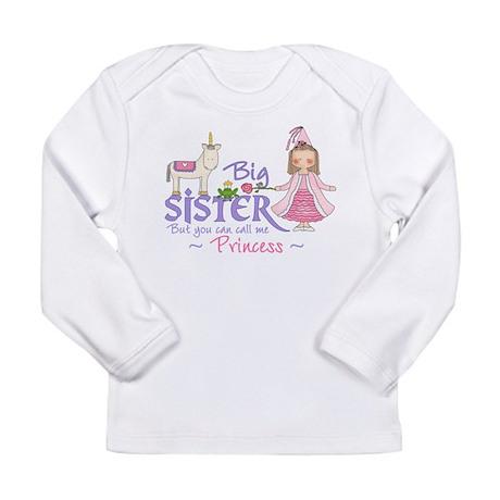 Unicorn Princess Big Sister Long Sleeve Infant T-S