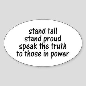 Tall Proud Truth Oval Sticker