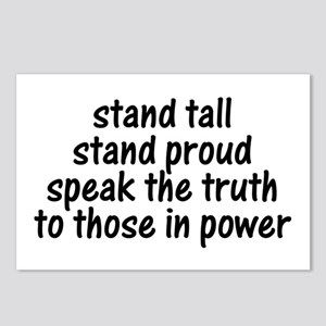 Tall Proud Truth Postcards (Package of 8)