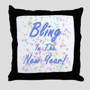 Bling in the New Year! Throw Pillow