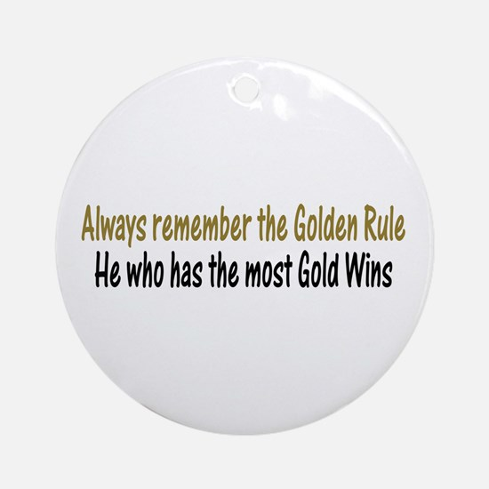 Rule of Gold Ornament (Round)