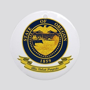 Oregon Seal Ornament (Round)