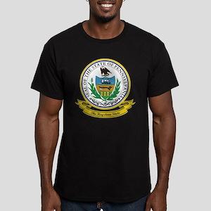 Pennsylvania Seal Men's Fitted T-Shirt (dark)