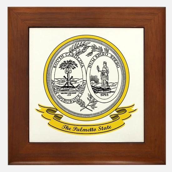 South Carolina Seal Framed Tile