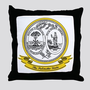 South Carolina Seal Throw Pillow