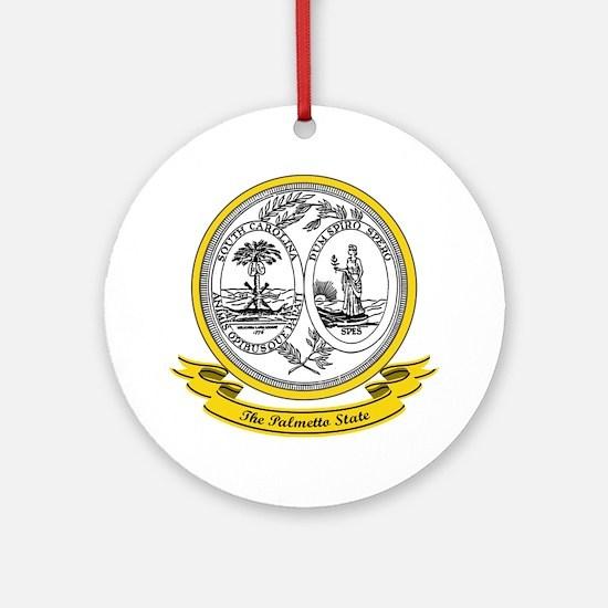 South Carolina Seal Ornament (Round)