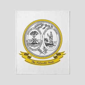 South Carolina Seal Throw Blanket