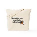violins in television Tote Bag