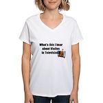 violins in television Women's V-Neck T-Shirt