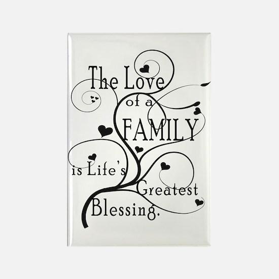 Love of Family Rectangle Magnet