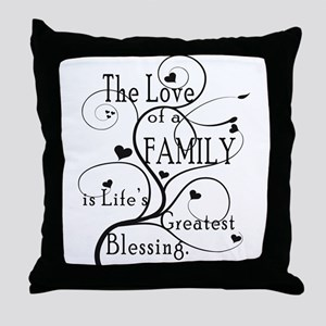 Love of Family Throw Pillow