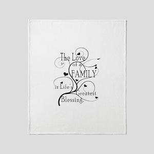 Love of Family Throw Blanket