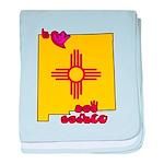 ILY New Mexico baby blanket