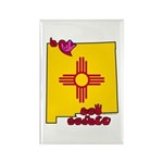 ILY New Mexico Rectangle Magnet (100 pack)